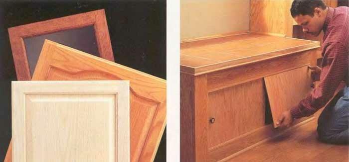 Как сделать дверку к тумбочке