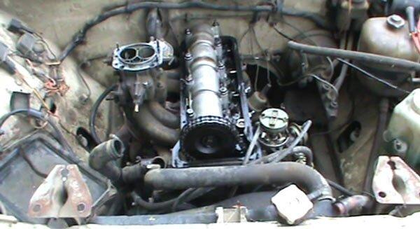 ваз видео двигателя сборка 21053