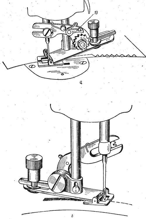 Получение стачивающей (прямой)строчки без съема приставки«зигзаг» с машины