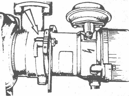 Метки на трамблере ВАЗ 08-09