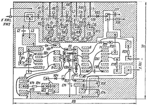 Схема прибора для проверки микросхем к561ла7.